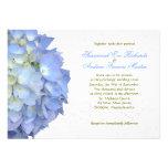 Blue Moon Hydrangea Custom Wedding Invitation Custom Announcement
