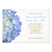 Blue Moon Hydrangea Custom Wedding Invitation