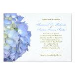 Blue Moon Hydrangea Custom Wedding Invitation