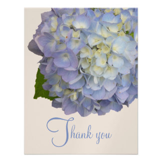 Blue Moon Hydrangea Flat Wedding Thank You Cards Announcement