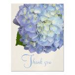 Blue Moon Hydrangea Flat Wedding Thank You Cards Announcement
