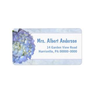Blue Moon Hydrangea Single Name Address Label
