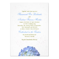 Blue Moon Hydrangea Wedding Invitation