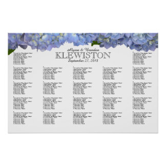 Blue Moon Hydrangea Wedding Seating Chart