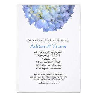 Blue Moon Hydrangea Wedding Shower Invitation