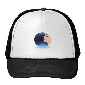 Blue moon lady trucker hat