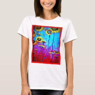 Blue Moon Light Sun Flowers by Sharles T-Shirt