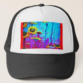Blue Moon Light Sun Flowers by Sharles Trucker Hat