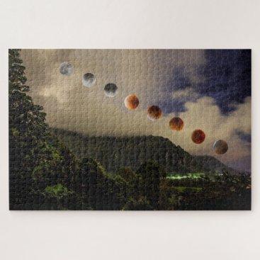 Hawaiian Themed Blue Moon Lunar Eclipse Hawaii 1014 Piece Puzzle
