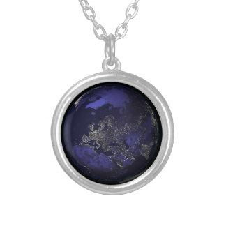 Blue Moon Round Pendant Necklace