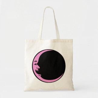 Blue Moon Orange Moon Pink Moon Black Laughing Man Tote Bag