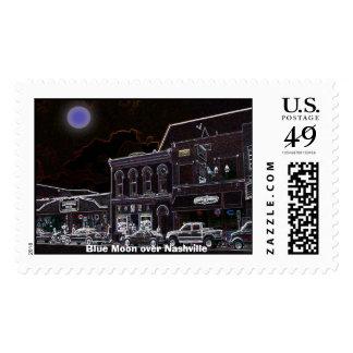 Blue Moon over Nashville Stamp