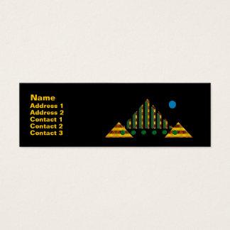 Blue Moon Over Pyramids Mini Business Card