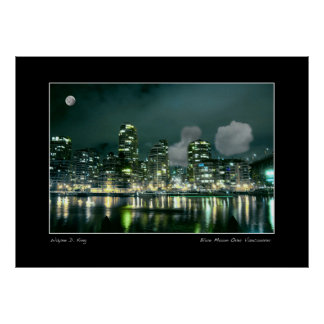 Blue Moon Over Vancouver Poster