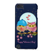 Blue moon owls in love & custom iPod touch (5th generation) case