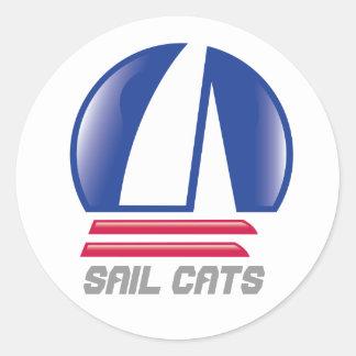 Blue Moon_Pontoon Racing_SAIL CATS Round Sticker