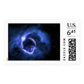 Blue Moon Postage Stamp