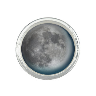 Blue Moon Round Silver Ring