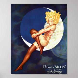 Blue Moon Silk Stockings Vintage Advertisement Art Poster