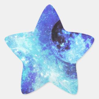 Blue Moon Star Sticker