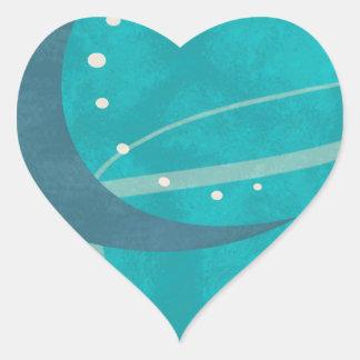 Blue Moon Heart Sticker