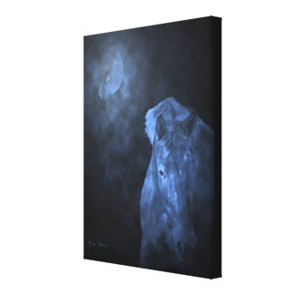 Blue Moon wrapped canvas