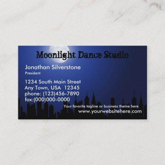 Blue moonlight business cards dance studio night business card blue moonlight business cards dance studio night business card colourmoves