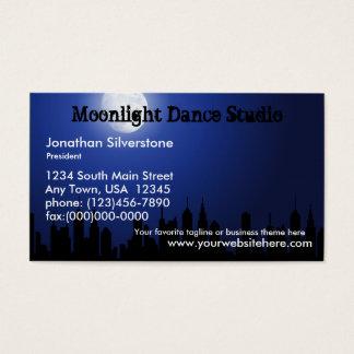 Blue Moonlight Business Cards, Dance Studio, Night Business Card