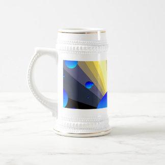 Blue Moons Gold Trim Stein 18 Oz Beer Stein