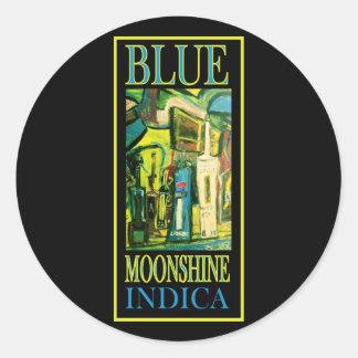 BLUE MOONSHINE INDICA CLASSIC ROUND STICKER