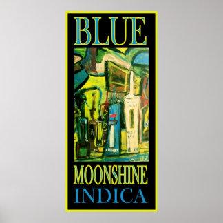 BLUE MOONSHINE INDICA PRINT