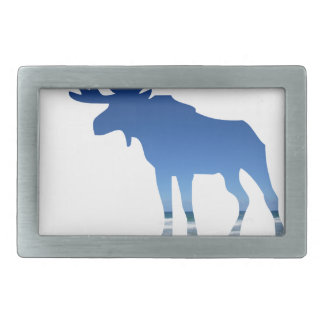 blue moose belt buckle