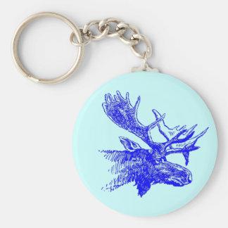 Blue Moose Bull Wildlife Outdoors Promo Keychains