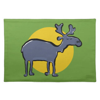 blue moose cloth placemat