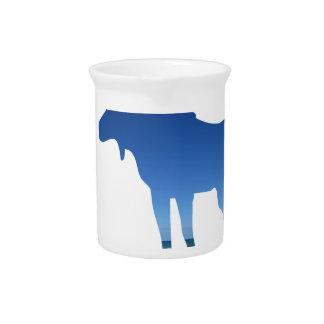 blue moose drink pitcher