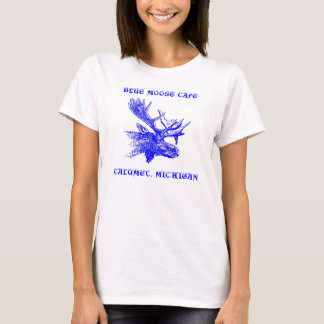 BLUE MOOSE HEAD SHIRT ~ EZ TO CUSTOMIZE!