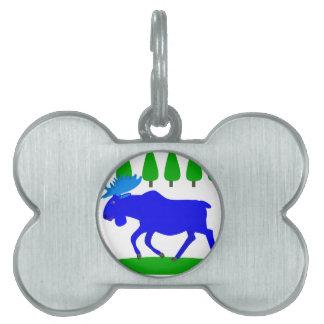 blue moose loose pet name tag