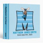 """Blue Moose Monogram """"M"""" Baby Scrapbook Vinyl Binders"""