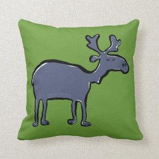 blue moose throw pillows