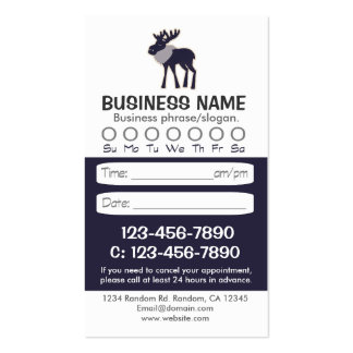 Blue moose rustic appointment cards business card