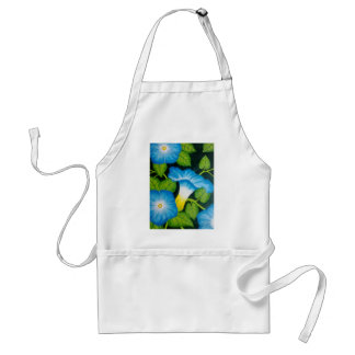Blue Morning Glories Adult Apron