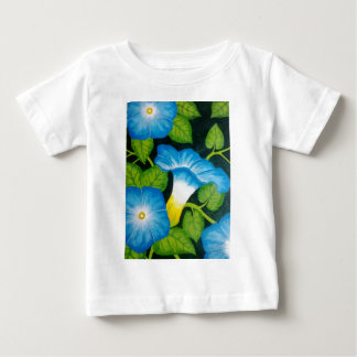 Blue Morning Glories Baby T-Shirt