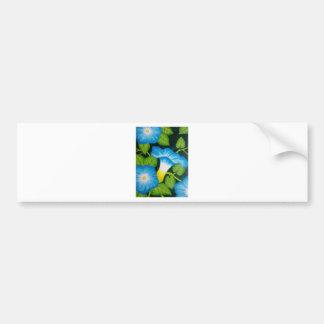 Blue Morning Glories Car Bumper Sticker