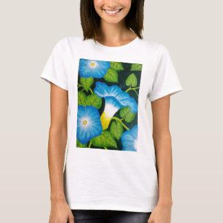Blue Morning Glories T-Shirt