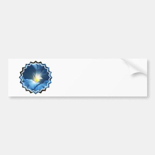 Blue Morning Glory Bumper Sticker