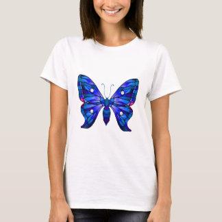 Blue Morning Glory Butterfly T-Shirt