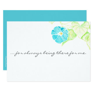 Blue Morning Glory Customizable Thank You Card or