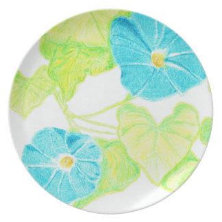 Blue Morning Glory Dinner Plate