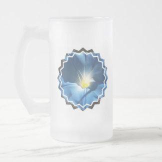 Blue Morning Glory Frosted Beer Mug