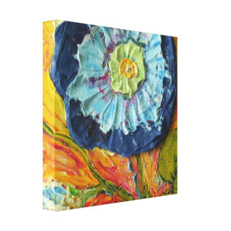 Blue Morning Glory Gallery Wrap Canvas Print